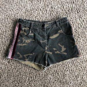 Camo High Rise Shorts